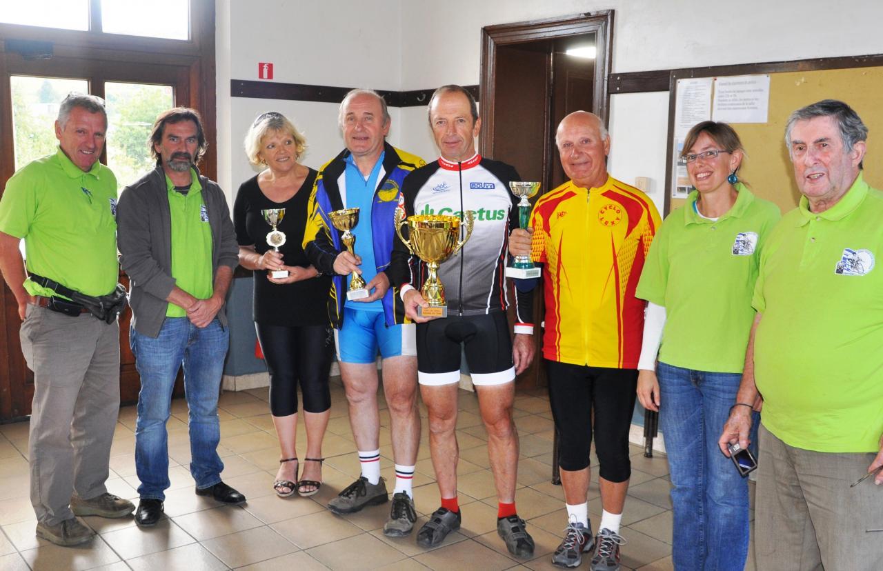 le podium du challenge 2012